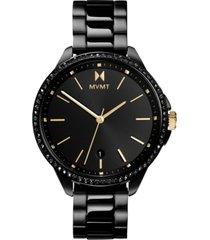 mvmt women's caviar black stainless steel bracelet watch 36mm