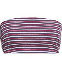 top a fascia in tessuto a costine (rosso) - rainbow