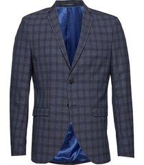 slhslim-mylologan navy check blz b noos blazer colbert blauw selected homme