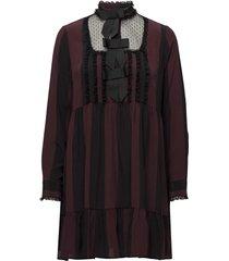 maple silk jurk knielengte paars ganni