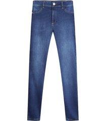 jean skinny bolsillos traseros color azul, talla 6