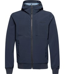 m softshell hood jacket outerwear sport jackets blå peak performance