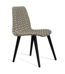 cadeira eames tecido pe madeira daf cinza/bege