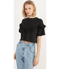 cropped t-shirt met volant