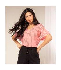 blusa viscose feminina rovitex rosa