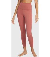 leggings nike w ny crochet 7/8 tight rosa - calce ajustado