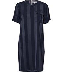 fifi dress ss knälång klänning blå tommy hilfiger