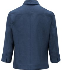 blouse 100% linnen 3/4-mouwen van peter hahn blauw