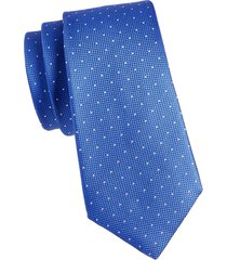canali men's dotted silk tie - blue