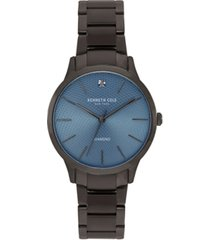 kenneth cole new york men's gunmetal stainless steel bracelet watch, 41mm
