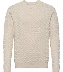 jerry sweater gebreide trui met ronde kraag crème lexington clothing