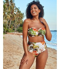 bali palm underwire bandeau bikini top c-g