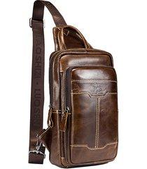 borsa a tracolla per borsa da uomo in vera pelle a tracolla