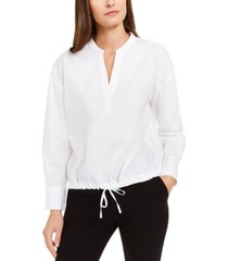 alfani drawstring-hem blouse, created for macy's