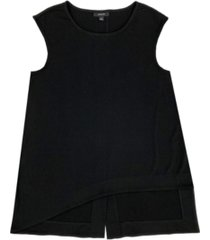 alfani asymmetrical sleeveless top, created for macy's