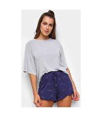 pijama curto cor com amor shorts doll feminino