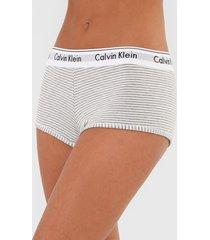 calcinha calvin klein underwear hot pant listrada cinza - cinza - feminino - viscose - dafiti