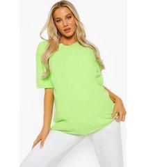 zwangerschap oversized gebleekt t-shirt, lime
