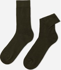 calzedonia short warm cotton socks man green size 42-43