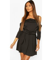 cowl neck cold shoulder skater dress