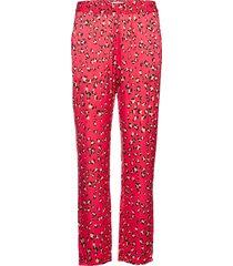 hill pantalon met rechte pijpen roze munthe