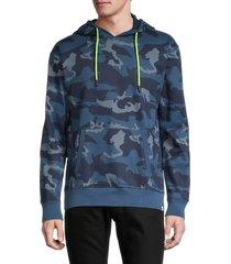sovereign code men's cotton camo hoodie - marine - size xl