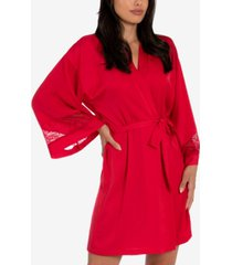 linea donatella embroidered wrap robe