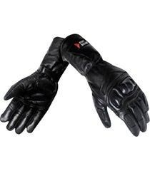 guante para moto caña larga  con protección bodybuilder- negro