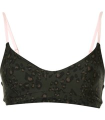 the upside top esportivo com animal print - verde