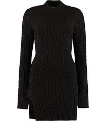 gcds braids jersey sheath dress
