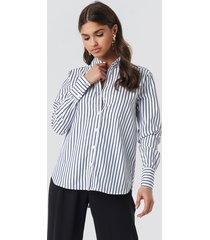 na-kd classic wide collar striped shirt - multicolor