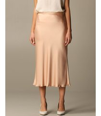 blumarine skirt blumarine midi skirt in satin