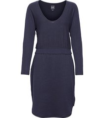 softspun banded waist dress dresses everyday dresses blå gap