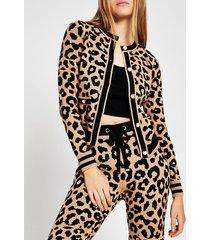 river island womens leopard print knitted cardigan