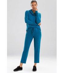 n-trance straight leg pants, women's, blue, size xl, n natori