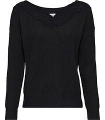 maglione con pizzo sullo scollo (nero) - bodyflirt