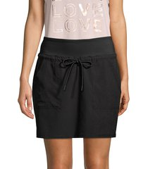 marc new york performance women's commute drawstring skirt - black - size xl