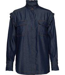 day kus blouse lange mouwen blauw day birger et mikkelsen