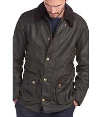 men's barbour ashby wax jacket, size xx-large - green
