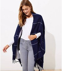 loft reversible windowpane cape