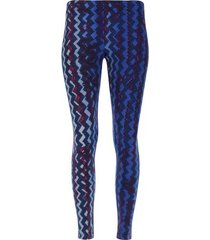 legging sport zigzag color azul, talla xs