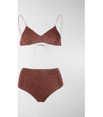 oséree metallic effect bikini set