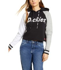 women's dickies colorblock crop hoodie
