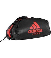 bolsa mochila adidas boxing 2in1 pu 50l preto/vermelho