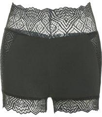 lace insert skinny short leggings