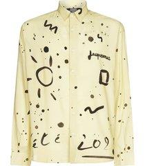 jacquemus henri print cotton and linen shirt
