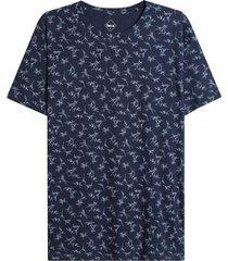 camiseta hombre hojas color azul, talla l