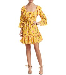 loulou cotton tiered floral dress