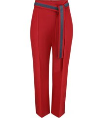 spodnie gładkie czerwone