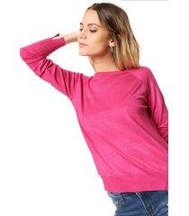 sweater fucsia moni tricot
